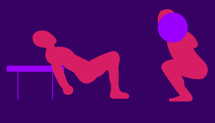 hip thrust and squat