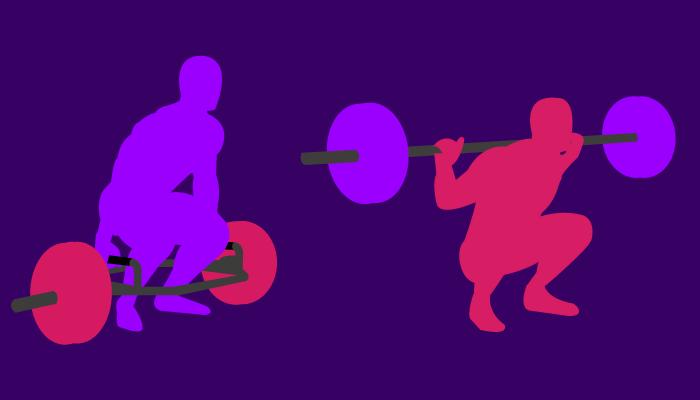 trap bar deadlift vs squat