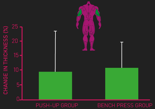 bench press vs push-up for triceps growth