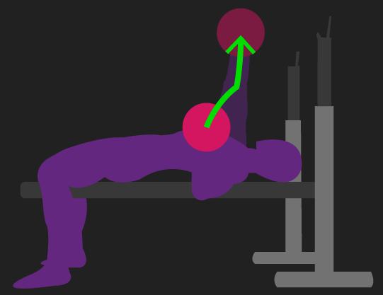 optimal bench press lifting bar path