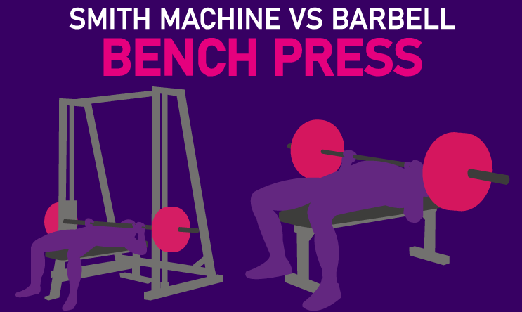 smith machine vs barbell bench press